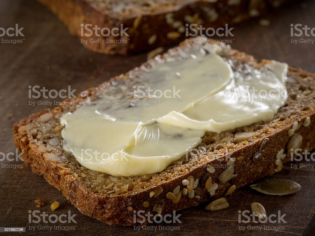 Sourdough rye bread with seeds stock photo