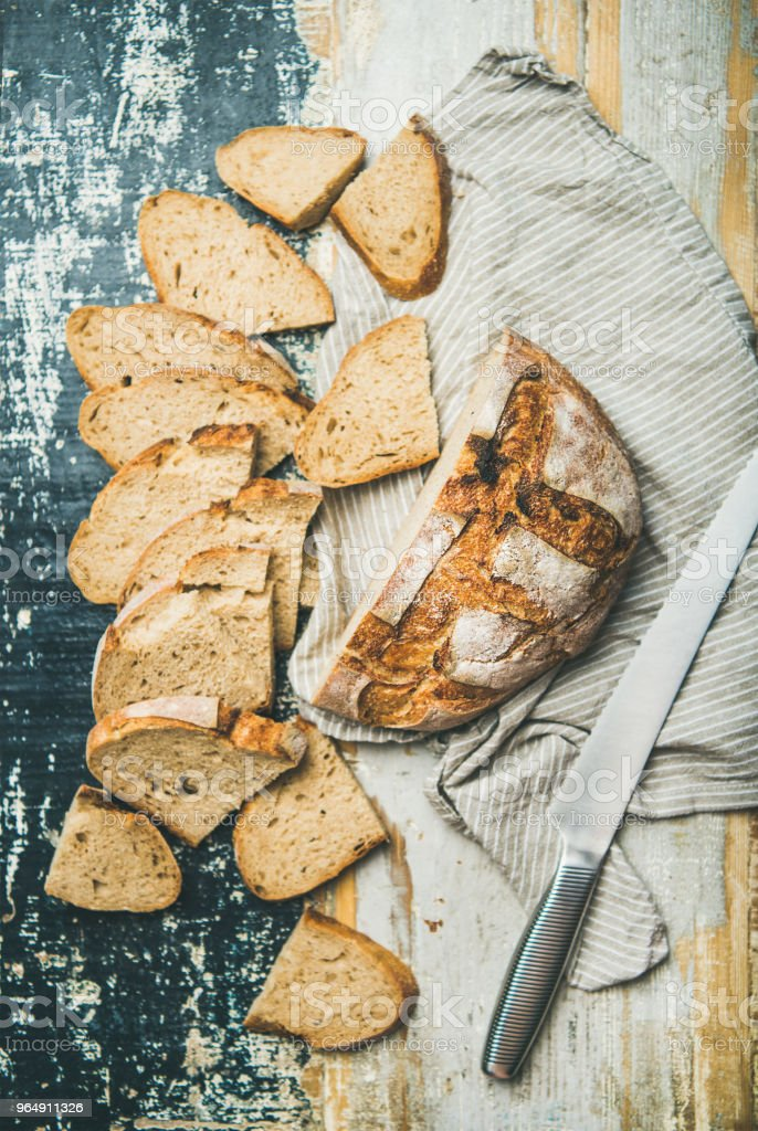 Sourdough wheat bread loaf royalty-free stock photo