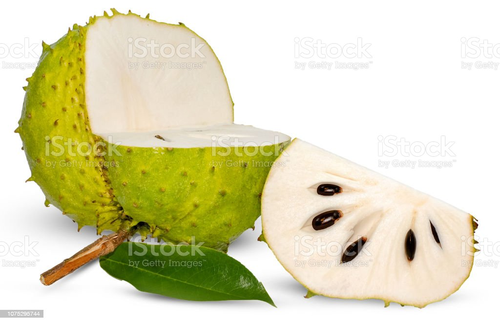 Soursop, Prickly Custard Apple isolated on white stock photo