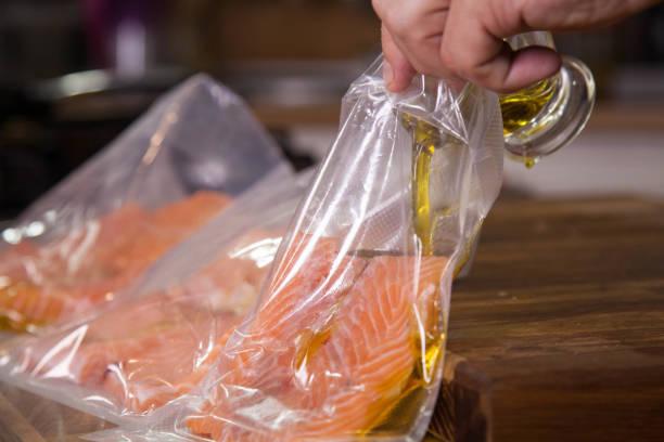 Sous vide salmon. – Foto