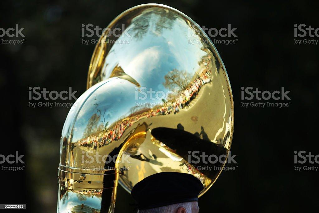 Sousaphone Reflection stock photo