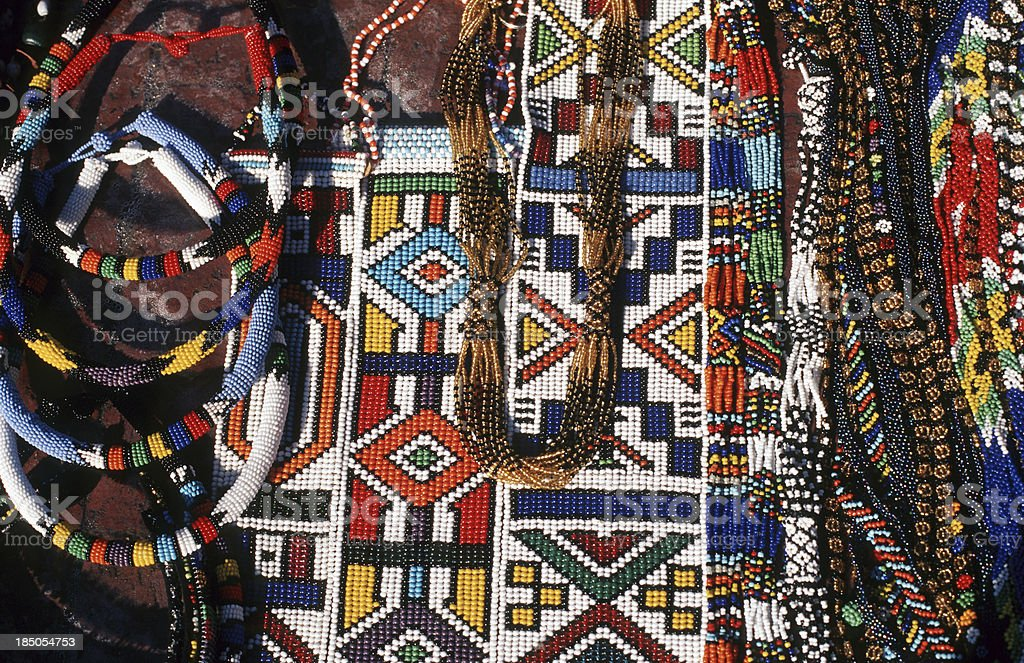 South Africa, African beadwork. stock photo