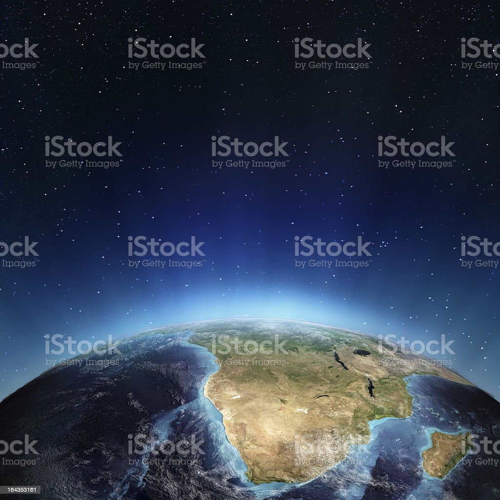 South Africa and madagascar stock photo