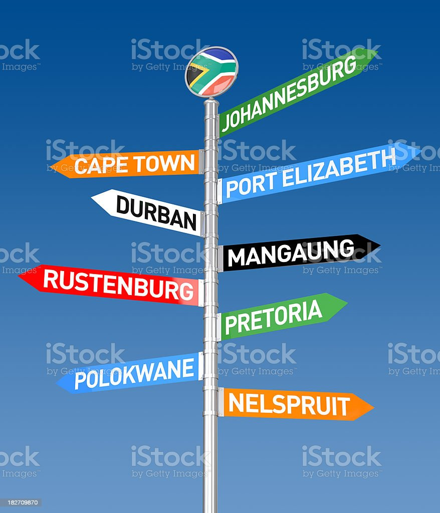 South Africa City Sign royalty-free stock photo