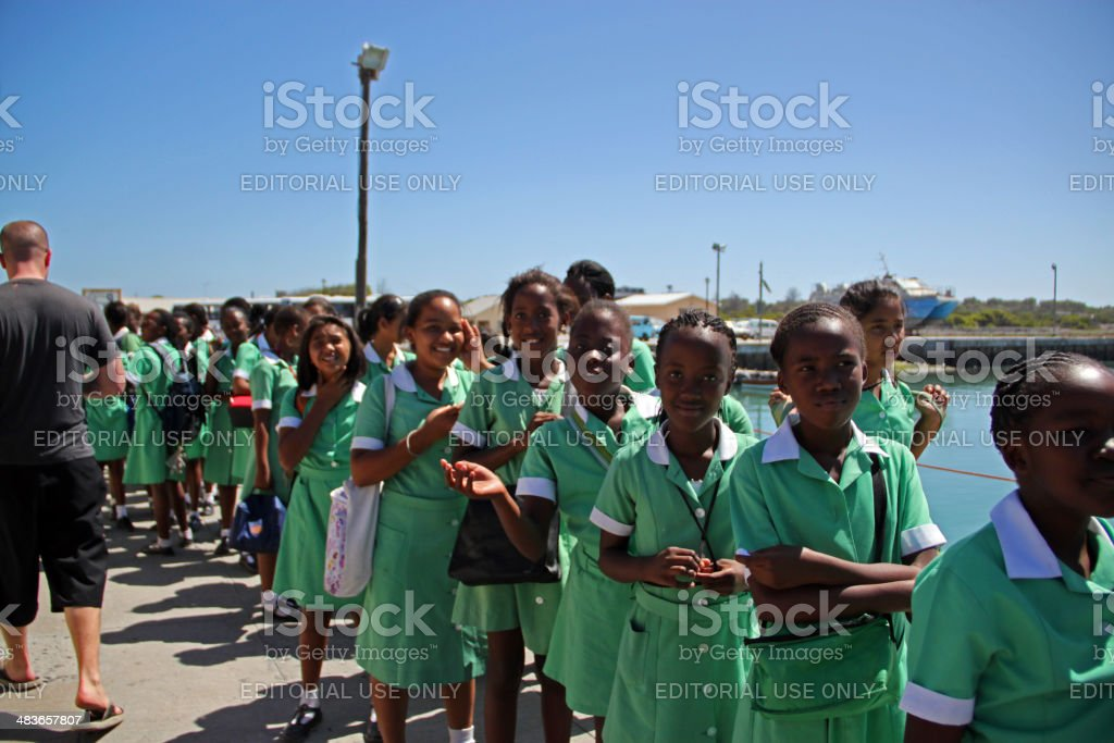 South Africa: Class Trip to Robben Island stock photo