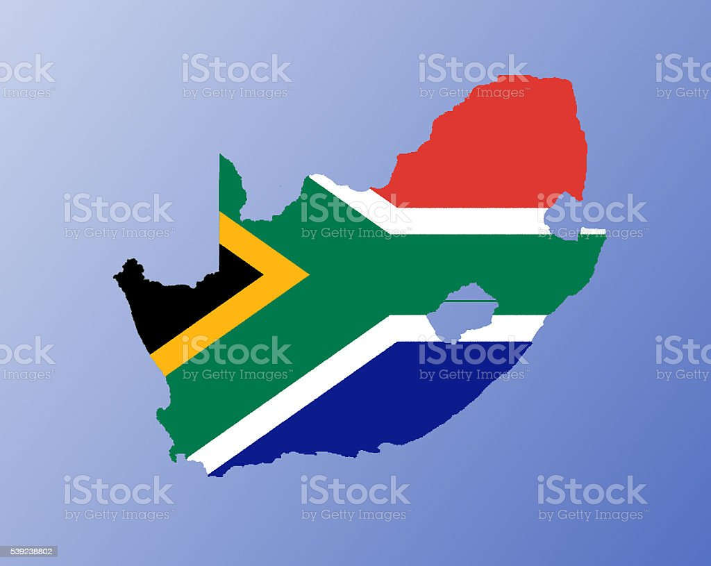 South Africa flag map royalty-free stock photo