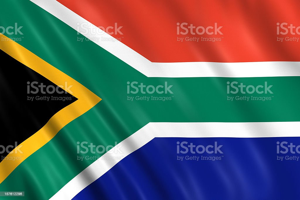 south africa flag stock photo
