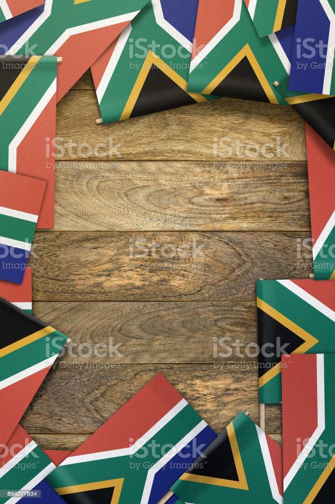 Bandeira da África do Sul - foto de acervo