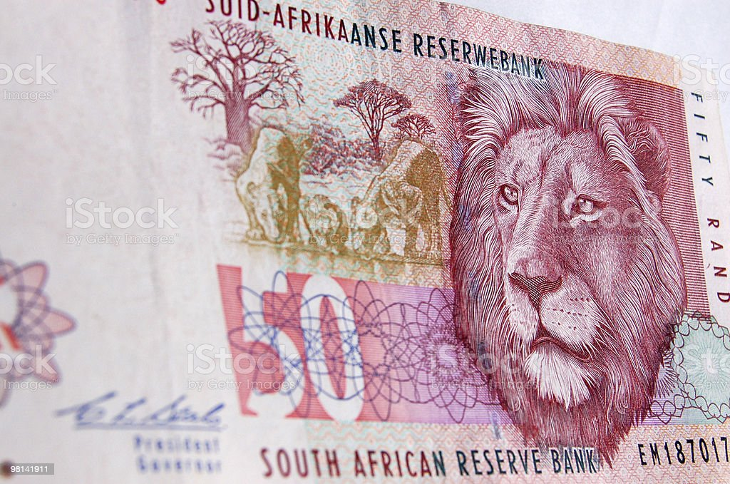 South Africa lion banknote royalty-free stock photo