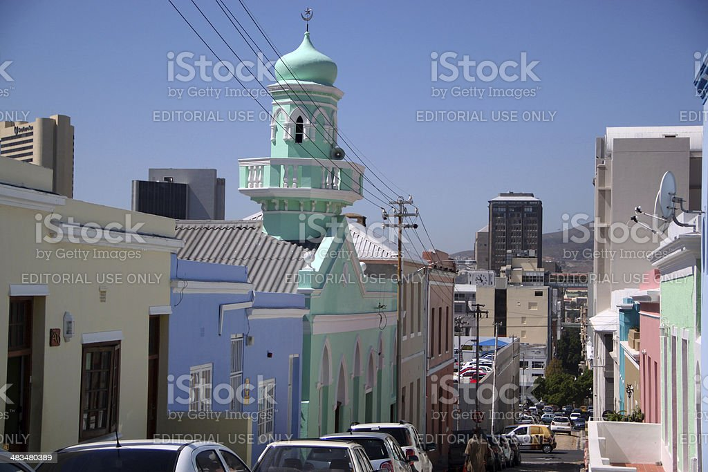 South Africa: Masjied Boorhaanol Islam mosque of Cape Town stock photo