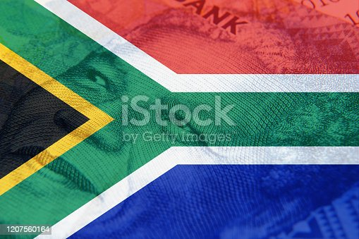 South Africa money concept image.