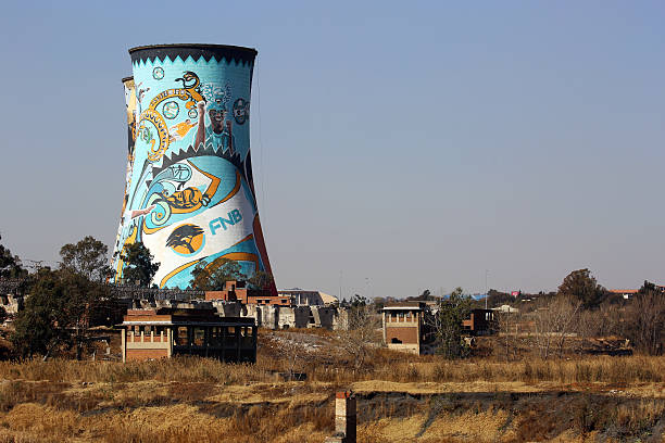 South Africa: Orlando Power Station Cooling Towers in Soweto stock photo
