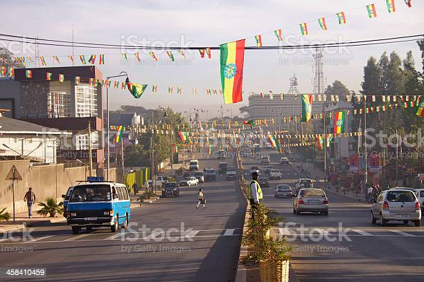 South Africa Street In Addis Ababa Stock Photo - Download Image Now