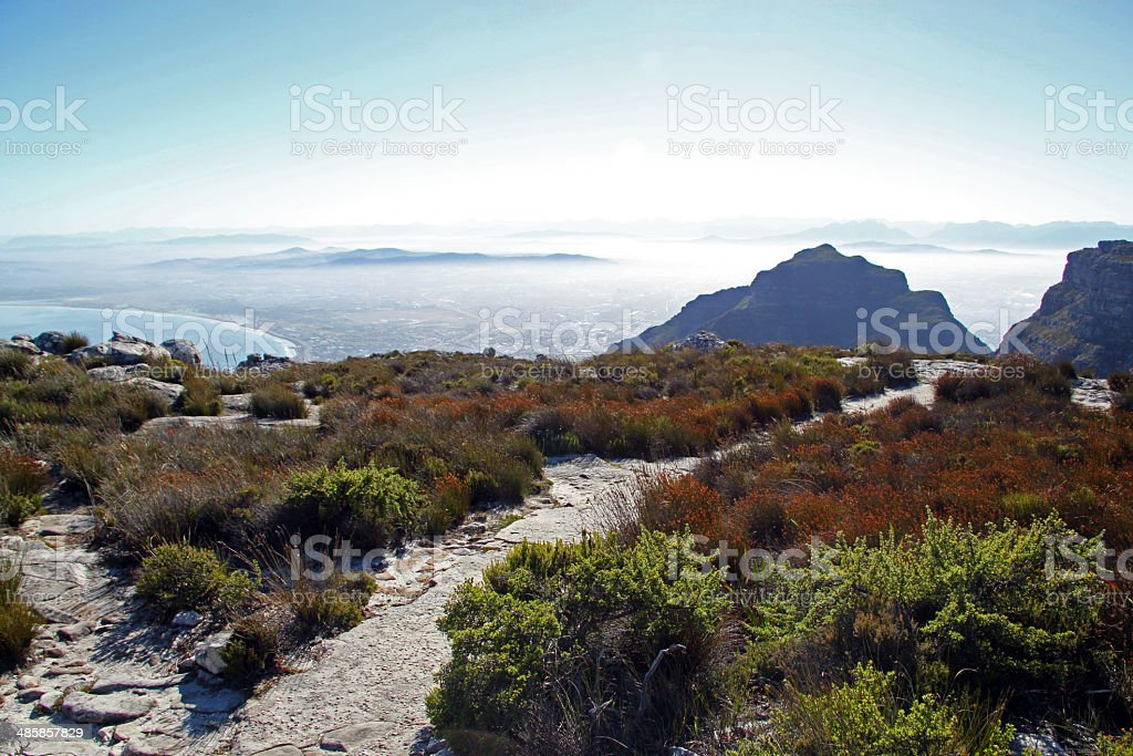 South Africa Table Top Mountain Pathway Stock Photo More Pictures - Table top mountain south africa