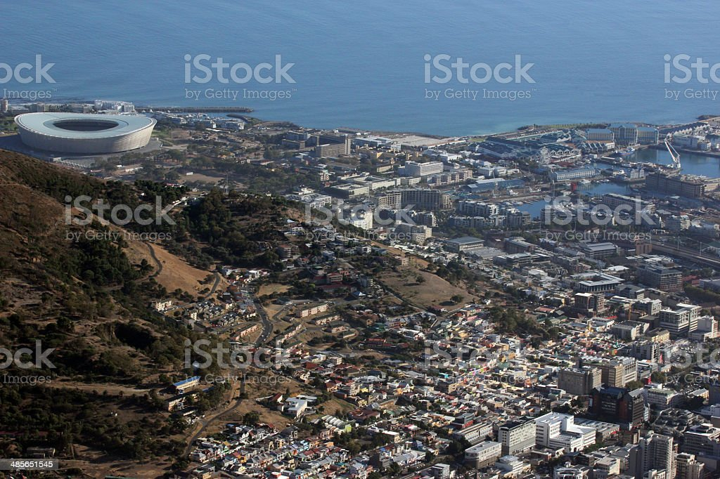 South Africa View Of Cape Town From Table Top Mountain Stock Photo - Table top mountain south africa