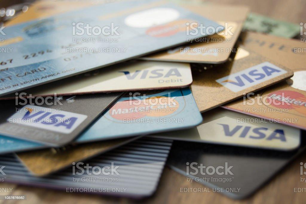 Carte Bancaire Afrique Du Sud.Photo Libre De Droit De Cartes Bancaires Sudafricaines Sur