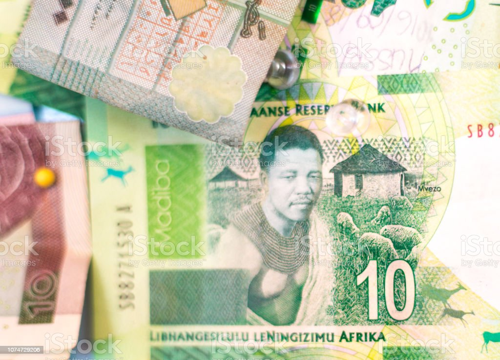 South African Banknote with Nelson Mandela Image stock photo