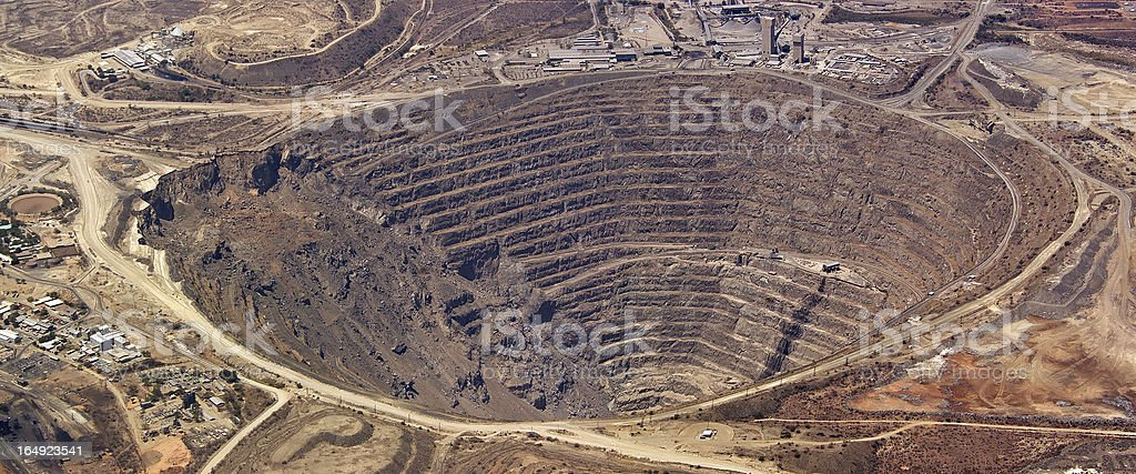 South African Copper Mine stock photo