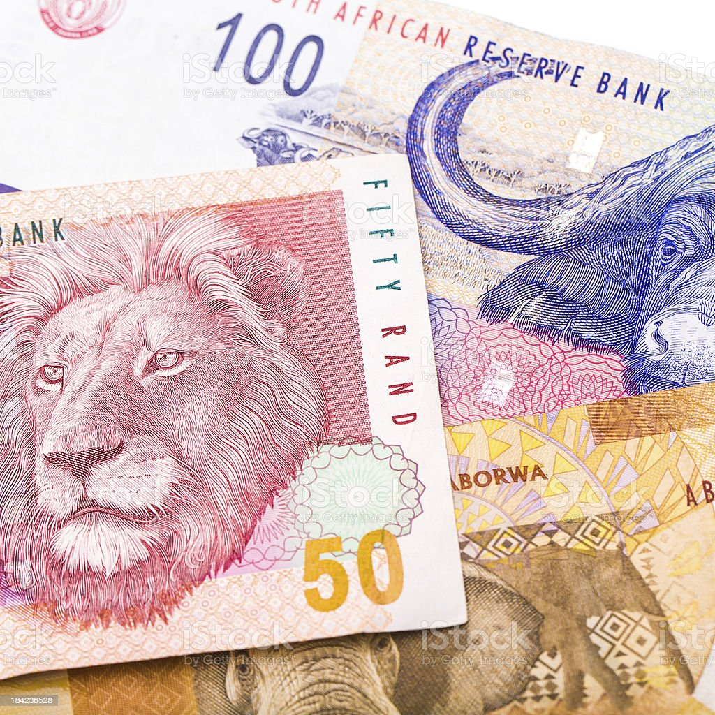 20 50 100 South African currency the Rand stock photo