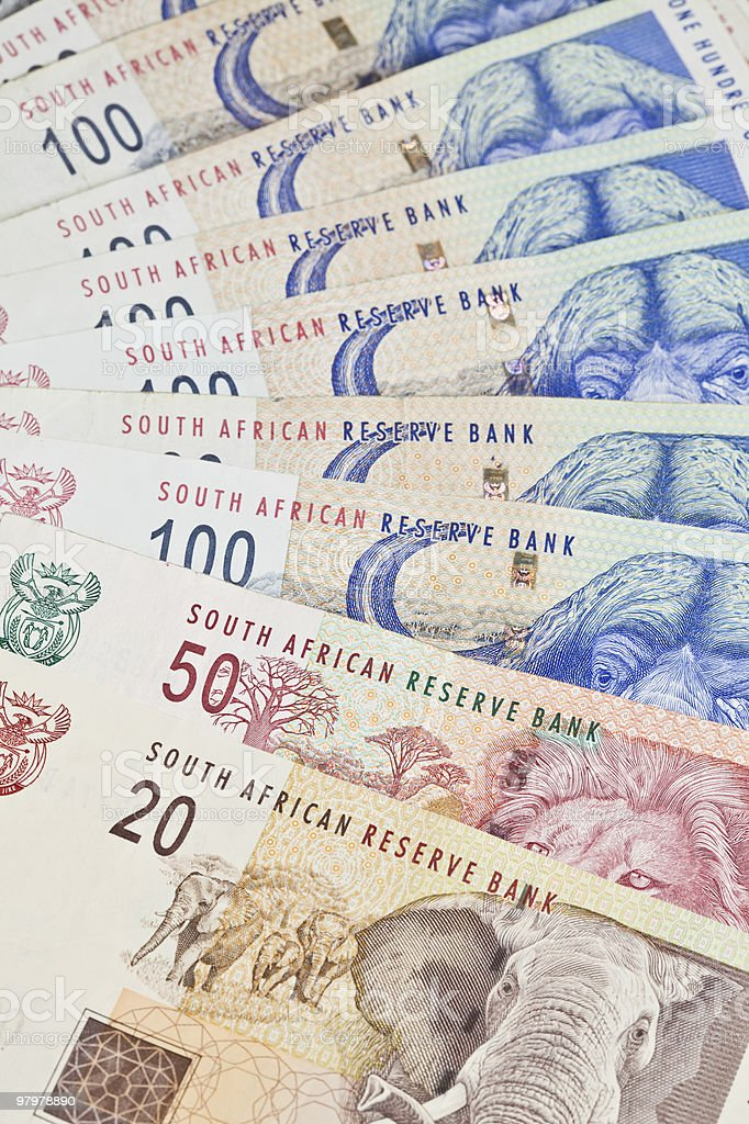 South African Currency the Rand stock photo