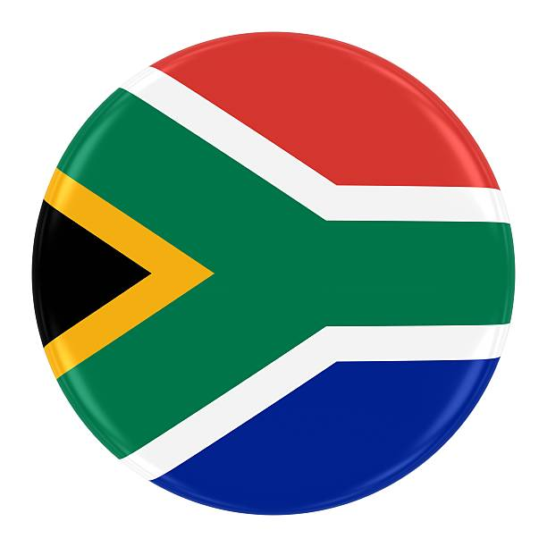 South African Flag Badge stock photo