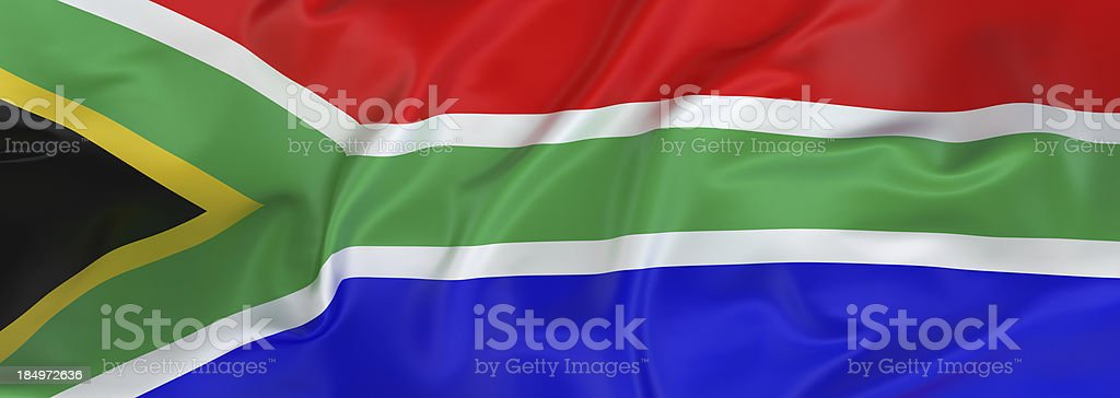 South African Flag banner stock photo
