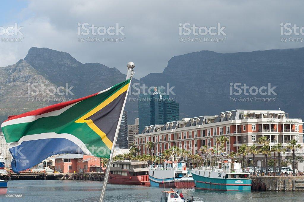 Bandeira da Cidade do Cabo, África do Sul - foto de acervo