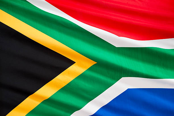 South African flag  south africa stock pictures, royalty-free photos & images