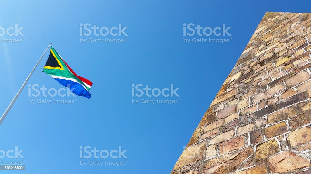 Bandeira Sul-Africana - foto de acervo