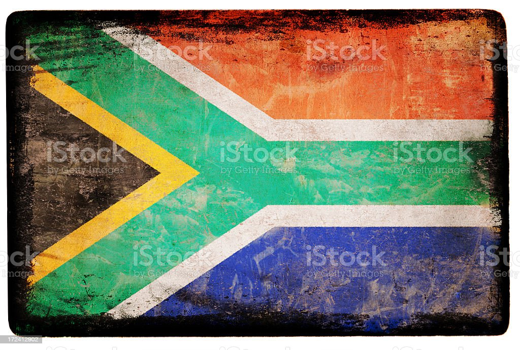 South African Flag XXL royalty-free stock photo