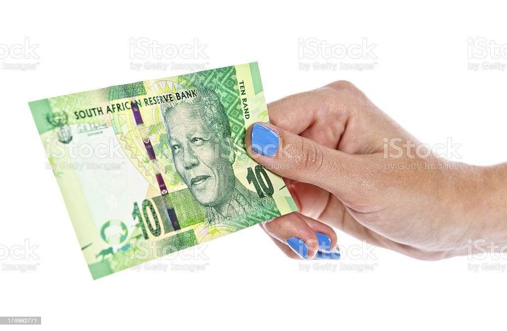 South African Mandela banknote stock photo
