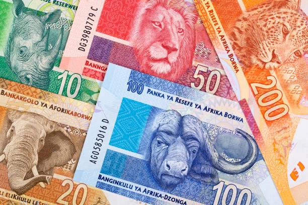 Südafrikanisches Geld ein geschäftlicher Hintergrund – Foto
