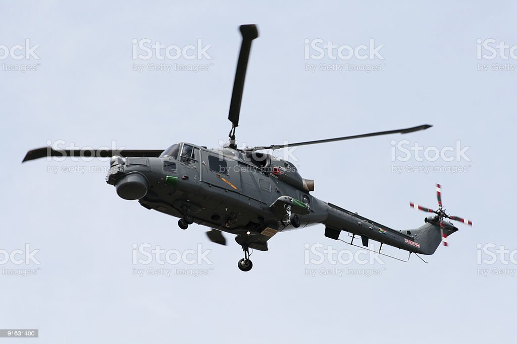 South African Navy Westland Lynx helicopter stock photo