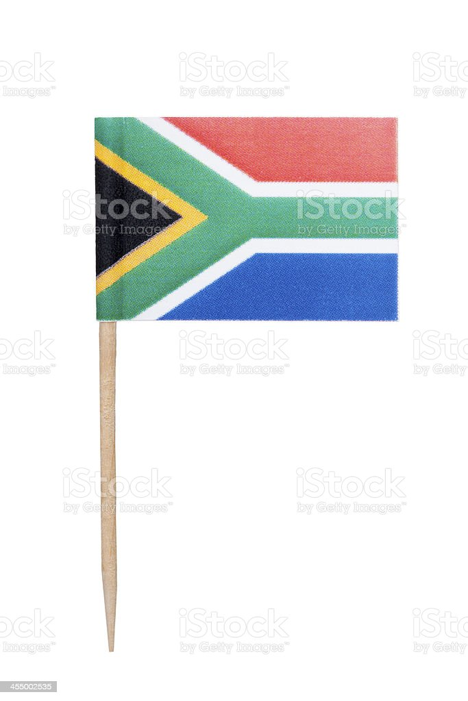 South African paper flag foto