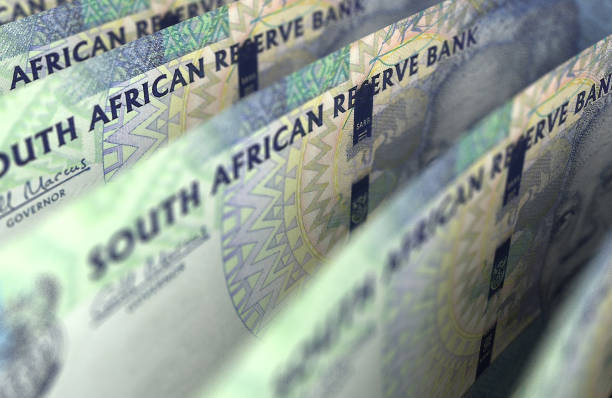 South African Rand Closeup stock photo