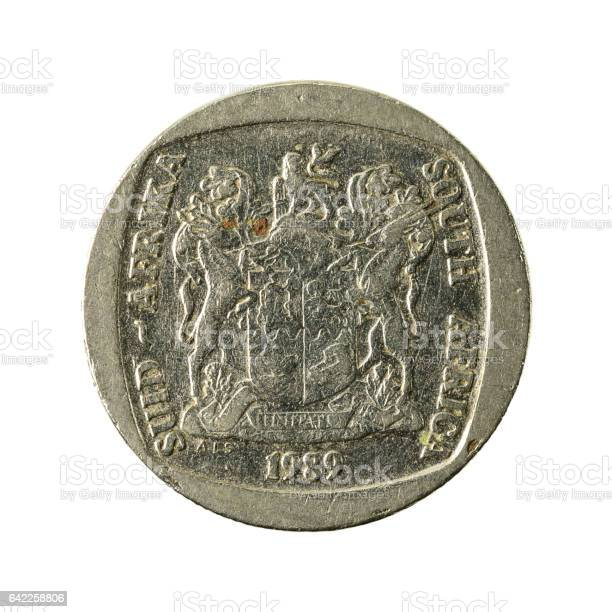 2 south african rand coin (1989) reverse