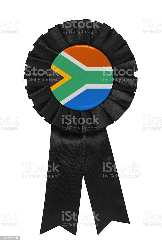 South African ribbon royalty-free stock photo