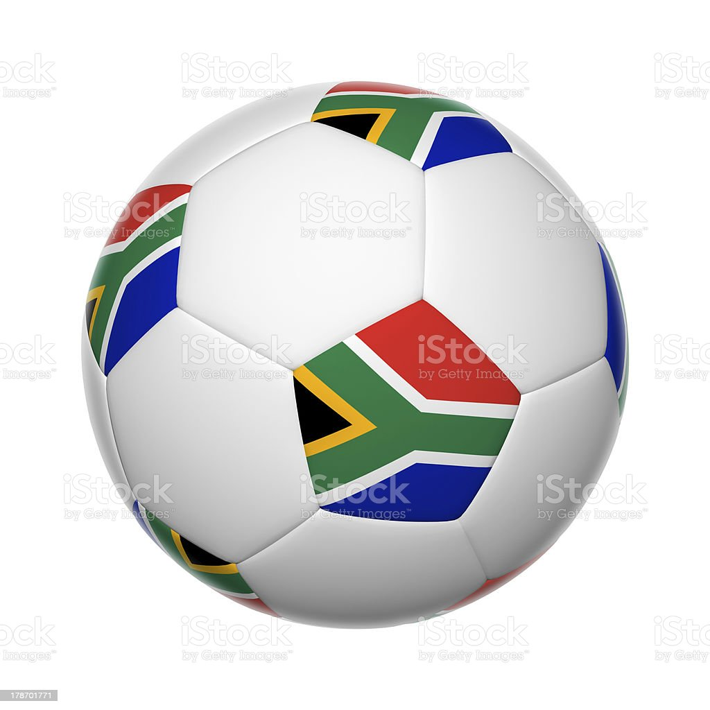South African soccer ball stock photo