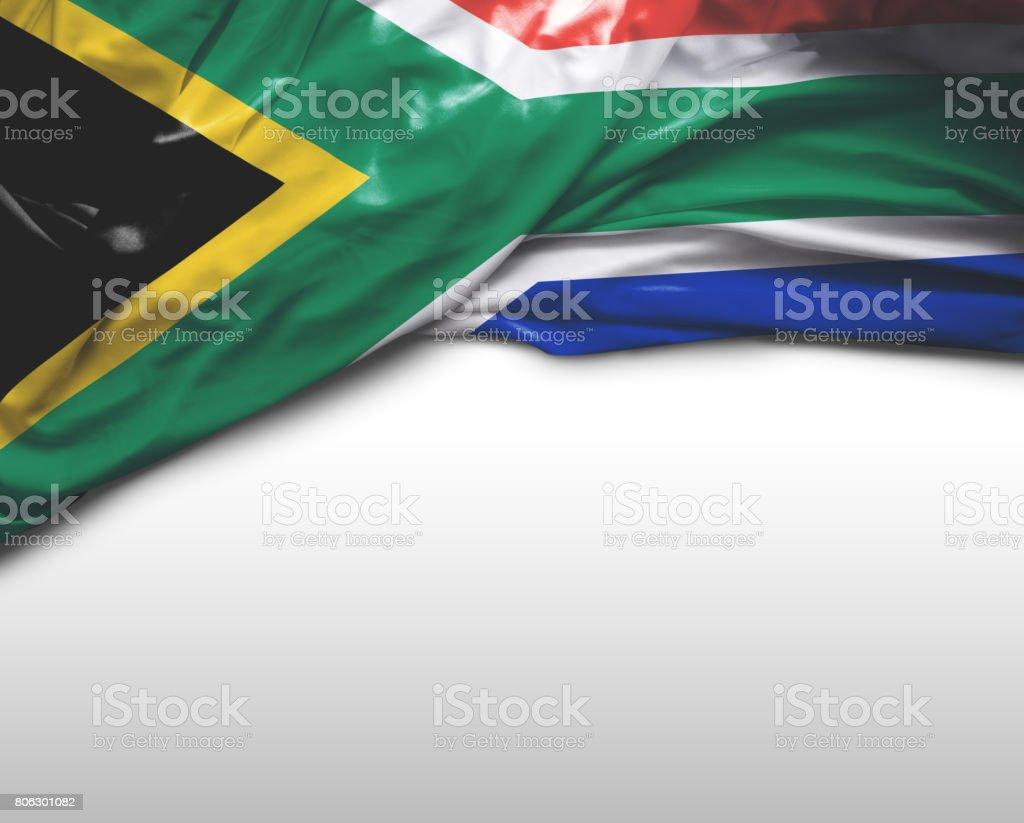 Bandeira de África do Sul - foto de acervo
