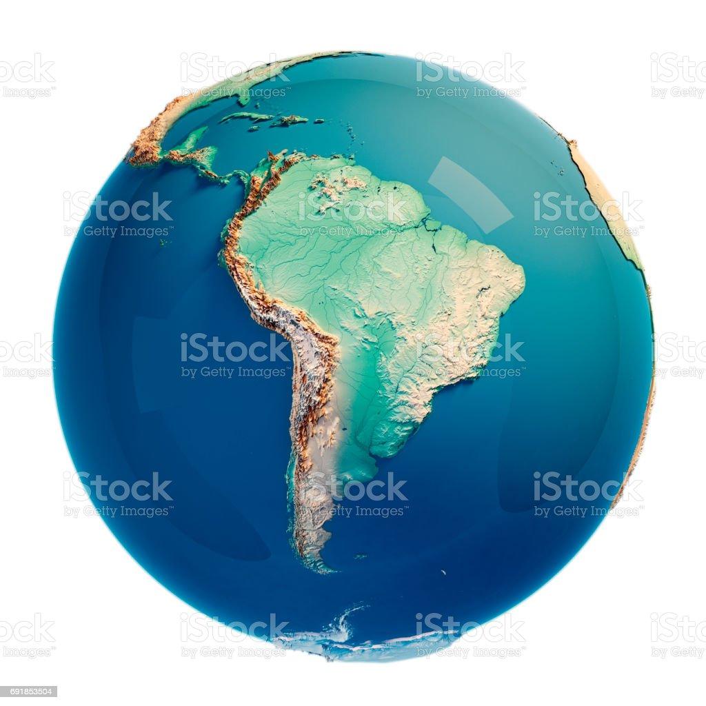 Südamerika 3D Render Planetenerde – Foto