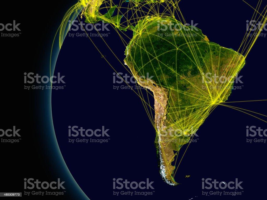 Conexiones de América del Sur foto de stock libre de derechos
