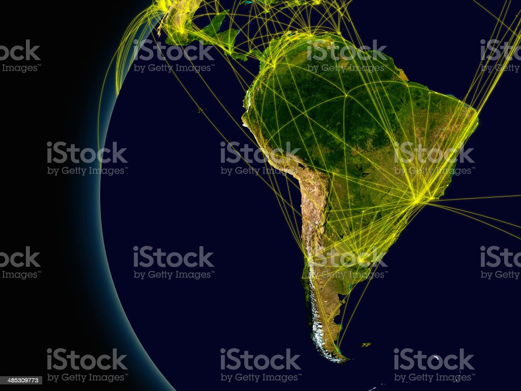 South America connections stock photo