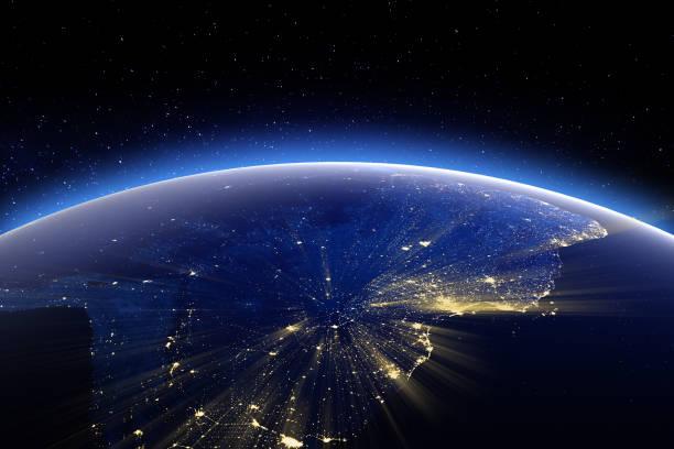 Süd-Amerika. Elemente dieses Bildes, eingerichtet von der NASA – Foto