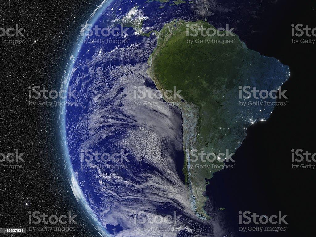 Südamerika von Raum – Foto