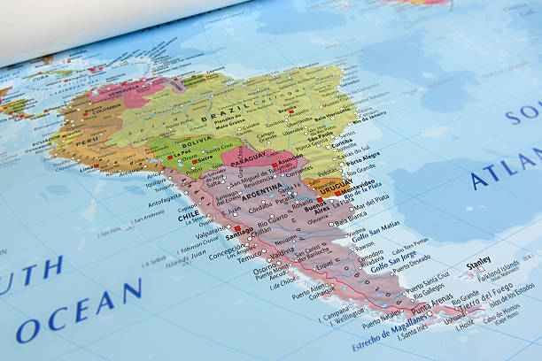 south america geographical view - south america travel stock photos and pictures