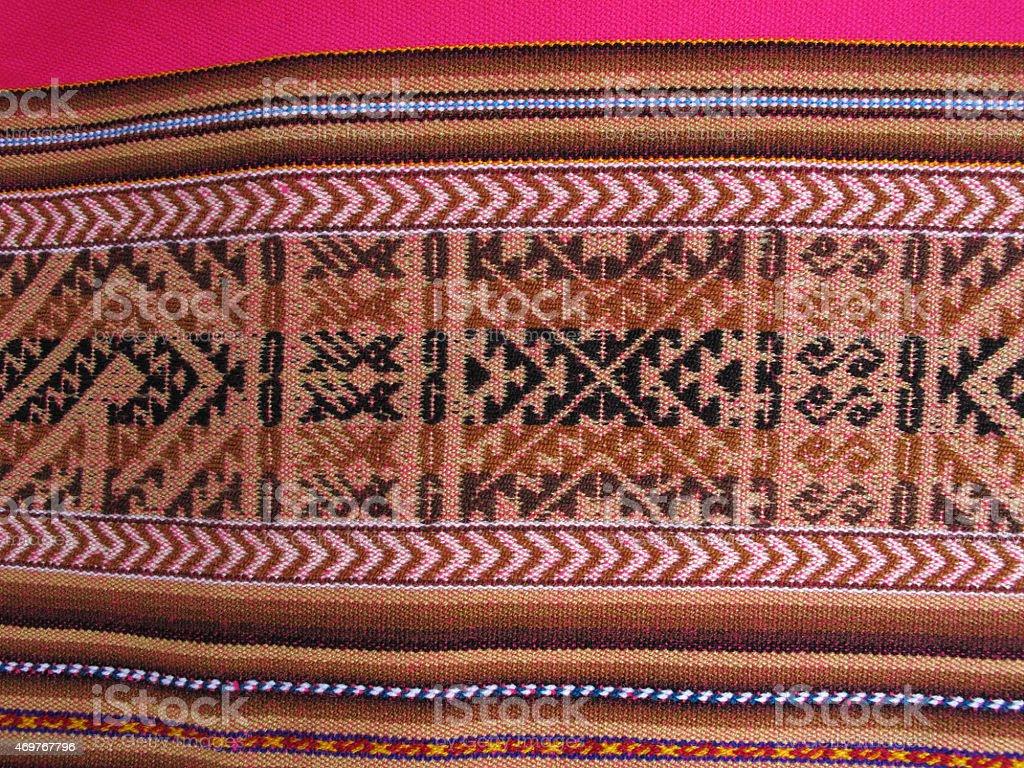 South America Indian woven fabrics stock photo