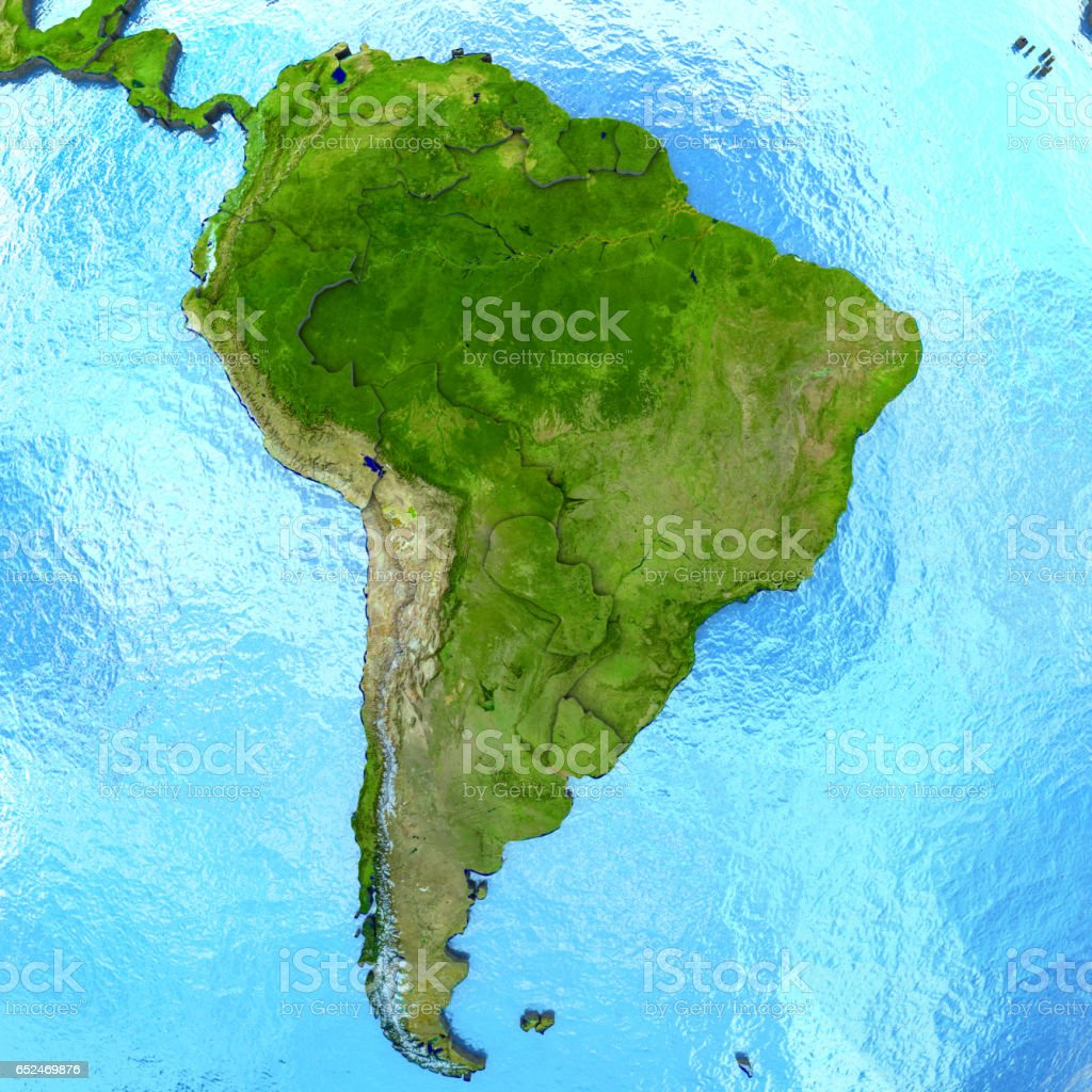 South America on model of Earth - foto de acervo