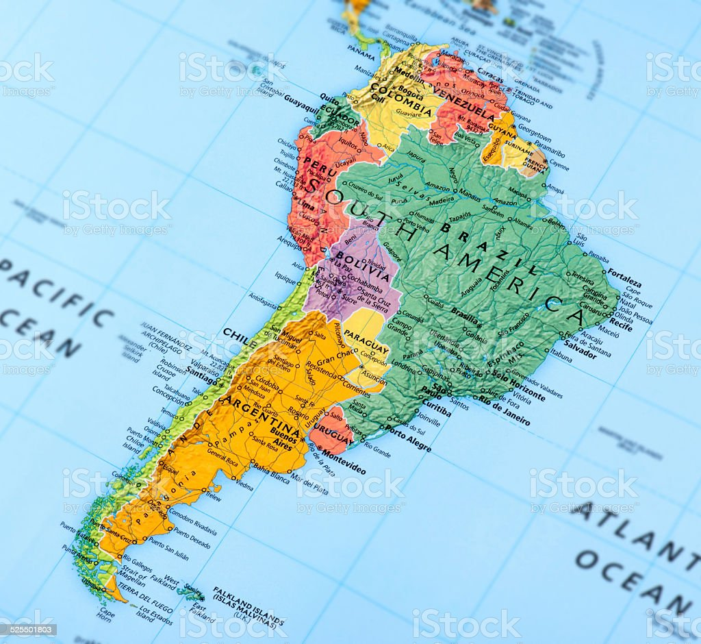 South America Map Pictures Images and Stock Photos iStock