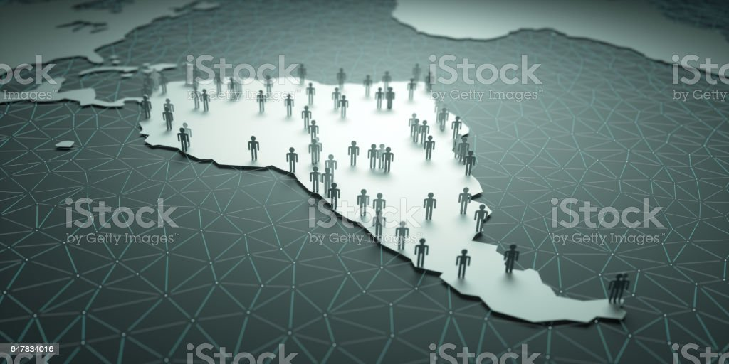 South America Population stock photo