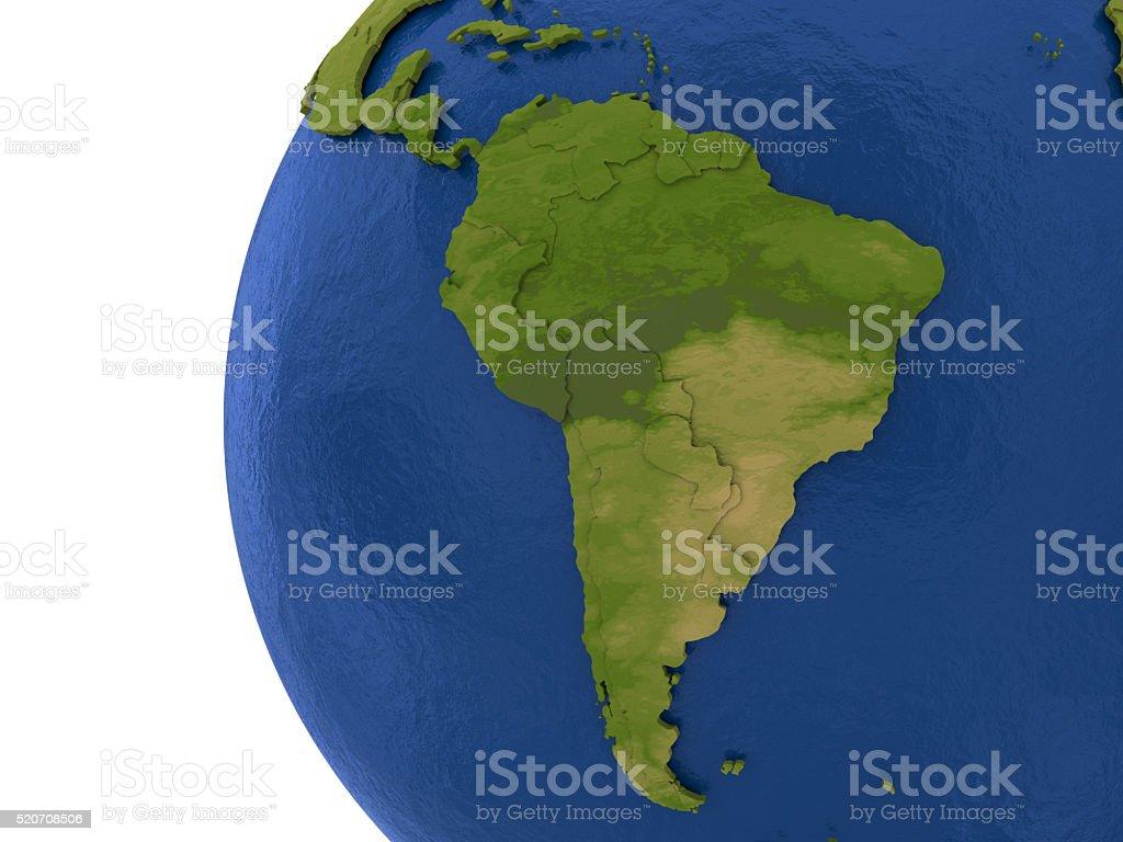 Continente sul-americano em terra - foto de acervo